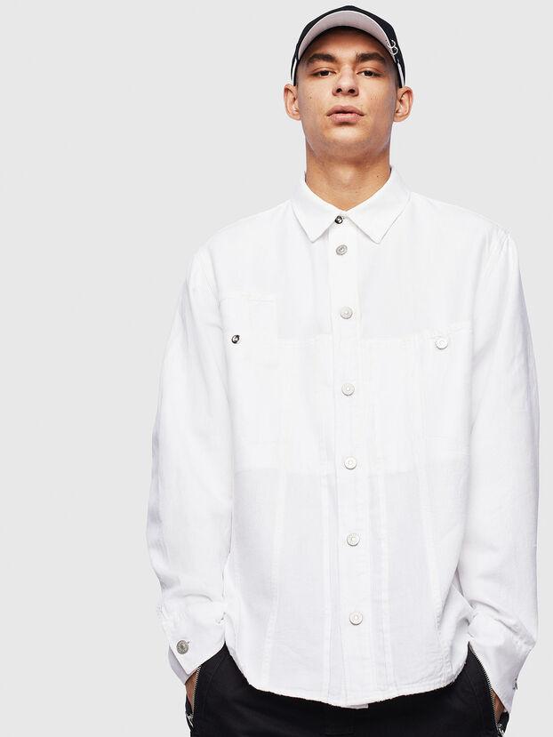 D-FLOX, Blanc - Chemises en Denim