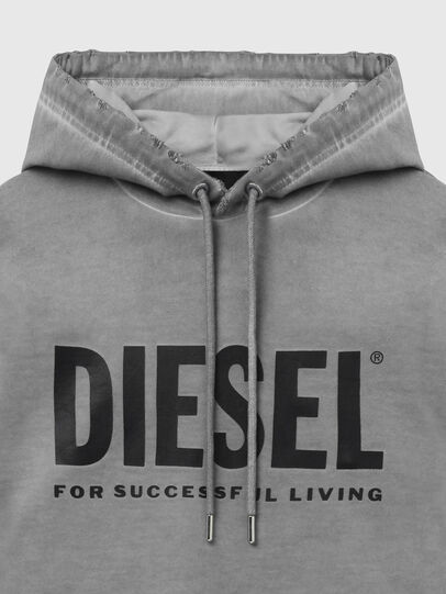 Diesel - S-GIR-HOOD-DIVISION-, Gris - Pull Cotton - Image 3