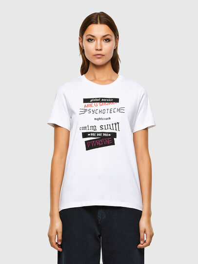 Diesel - T-SILY-V20, Blanc - T-Shirts - Image 1