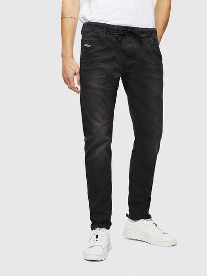 Diesel - Krooley JoggJeans 0670M, Noir/Gris foncé - Jeans - Image 1