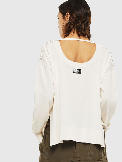 Diesel - M-PERLA-A, Blanc - Pull Maille - Image 2