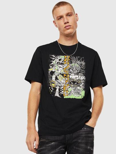 Diesel - T-JUST-J13, Noir - T-Shirts - Image 1