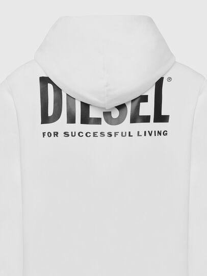 Diesel - S-GIRK-HOOD-ZIP-LOGO, Blanc - Pull Cotton - Image 5