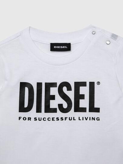 Diesel - TJUSTLOGOB ML, Blanc - T-shirts et Hauts - Image 3