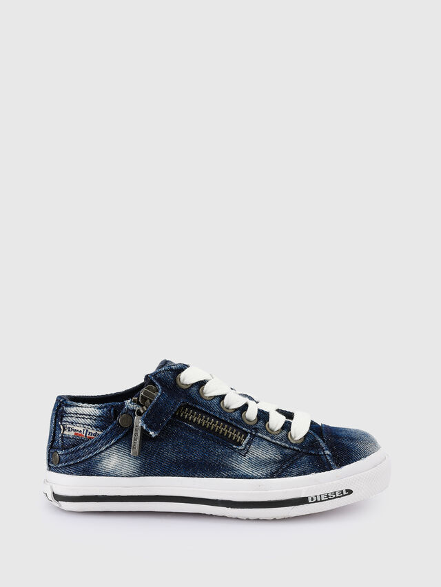 Diesel - SN LOW 25 DENIM EXPO, Jean Bleu - Footwear - Image 1