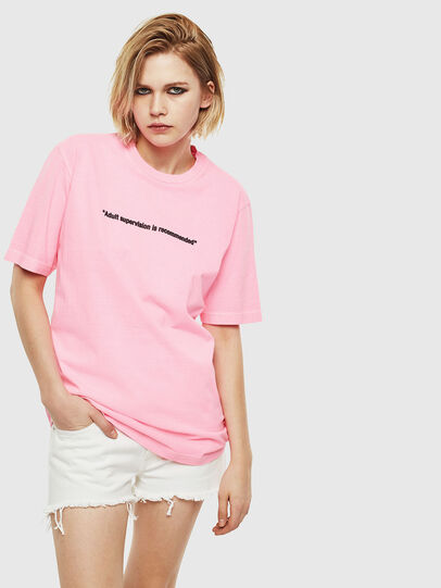 Diesel - T-JUST-NEON, Rose - T-Shirts - Image 2
