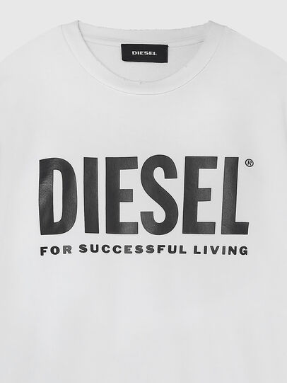 Diesel - S-GIR-DIVISION-LOGO, Blanc - Pull Cotton - Image 3