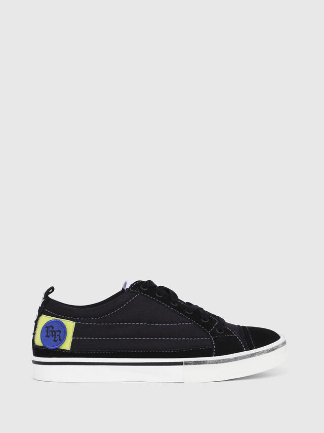 Diesel - D-VELOWS LOW PATCH W, Noir - Baskets - Image 1