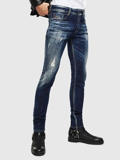 Diesel - Sleenker 0097L, Bleu Foncé - Jeans - Image 1