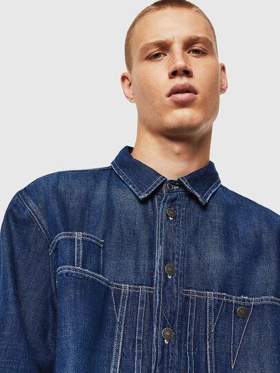 Diesel - D-FLOX, Bleu moyen - Chemises en Denim - Image 3