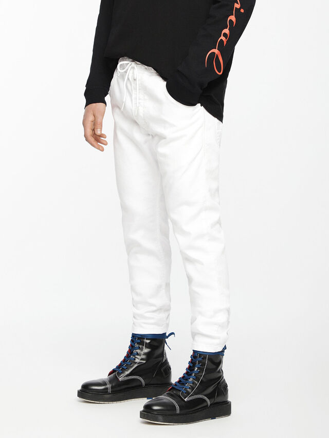 Diesel - Krooley JoggJeans 0684U, Blanc - Jeans - Image 1