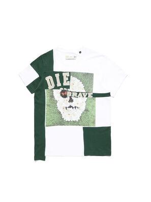 D-FRANKENSTEIN 2.1, Blanc/Vert - T-Shirts
