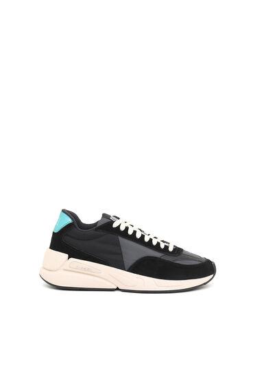 Sneakers en nylon et daim