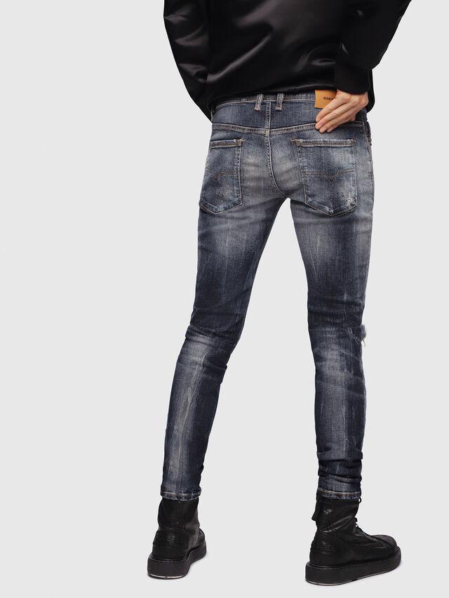 Diesel - Sleenker 069DJ, Bleu Foncé - Jeans - Image 2