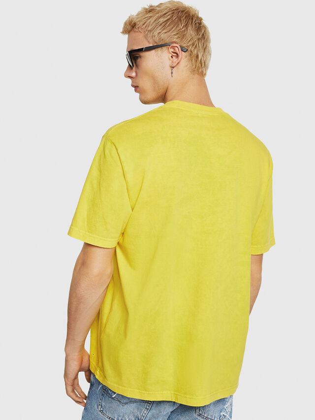 Diesel - T-JUST-Y18, Jaune - T-Shirts - Image 3