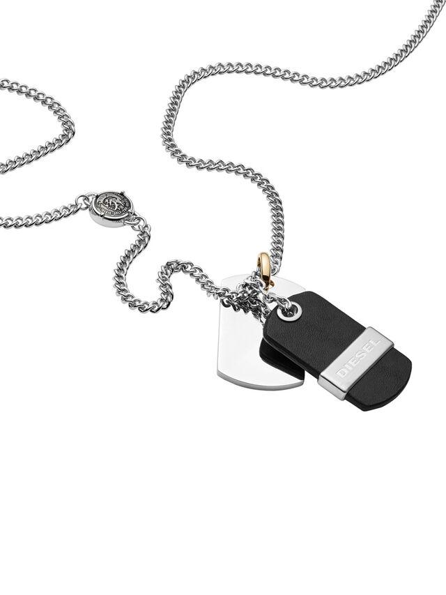 Diesel - NECKLACE DX1084, Noir - Colliers - Image 2