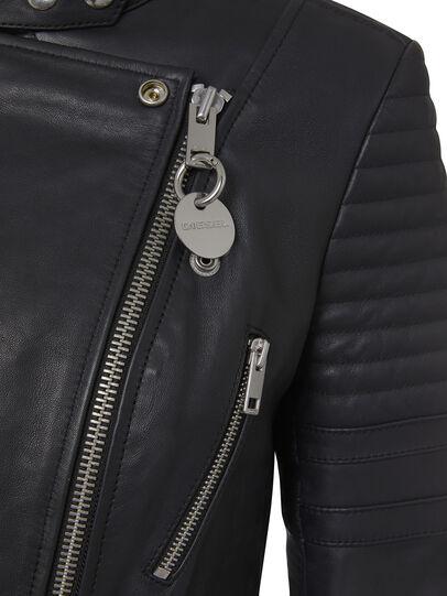 Diesel - L-IGE-NEW, Noir - Vestes de cuir - Image 4