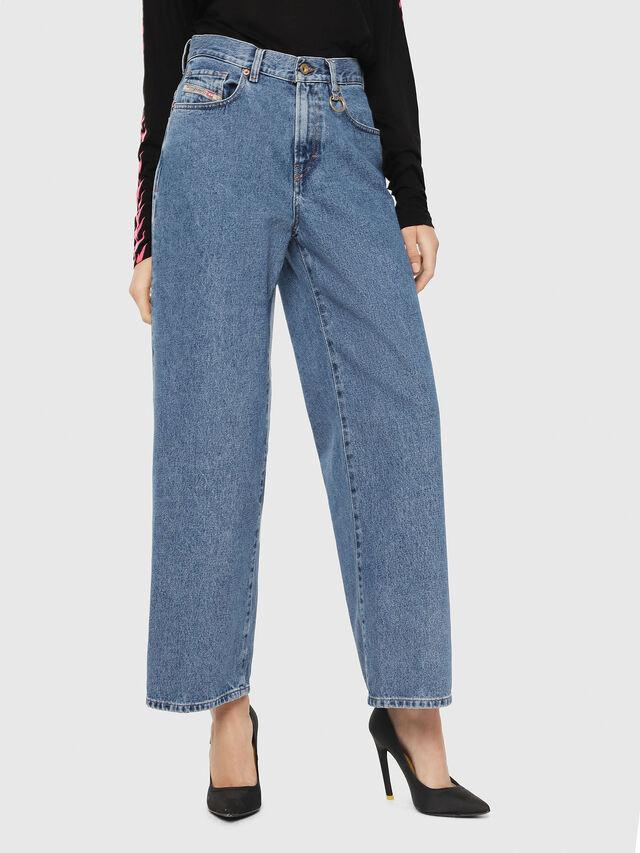 Diesel - Widee 0077V, Bleu moyen - Jeans - Image 1