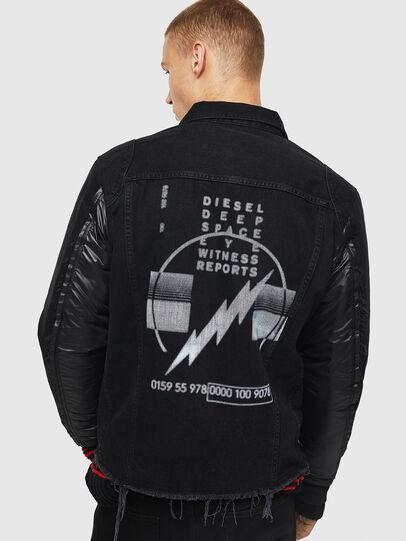 Diesel - D-BLIT, Noir/Gris foncé - Vestes en denim - Image 2