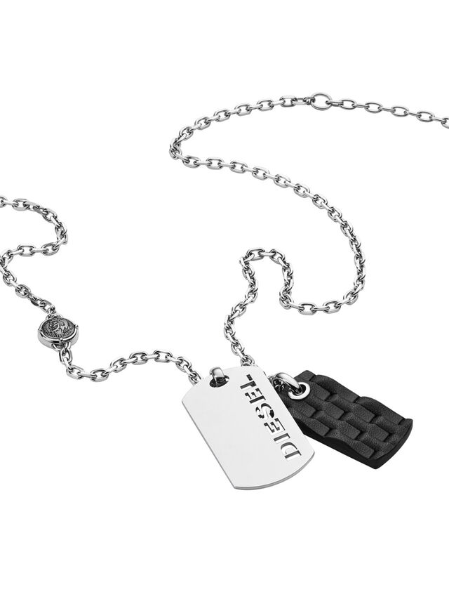 Diesel - NECKLACE DX1014, Gris argenté - Colliers - Image 2