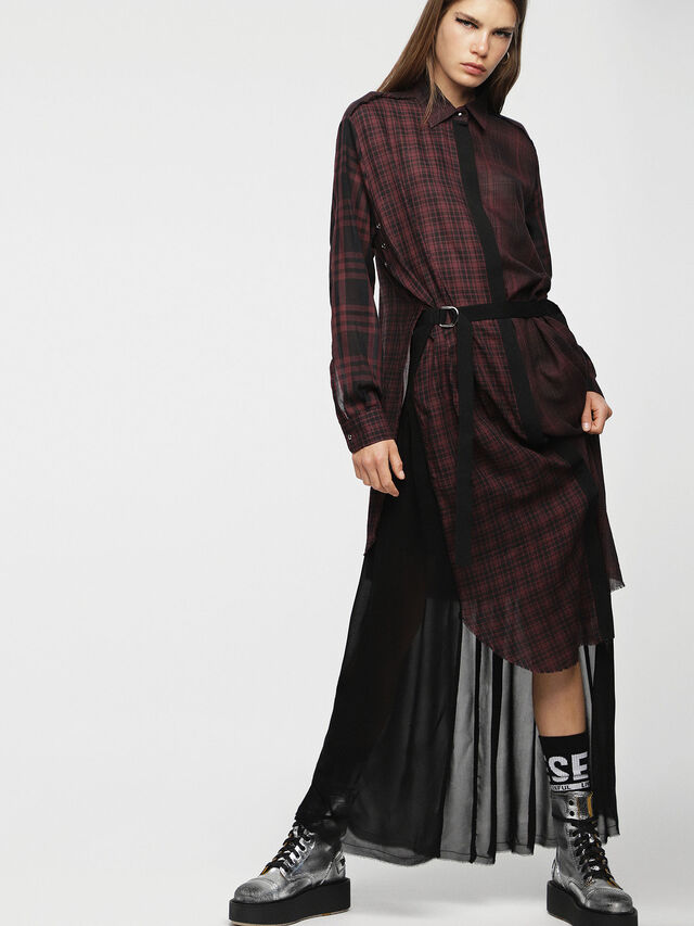 Diesel - D-BAGGY, Rouge/Noir - Robes - Image 1