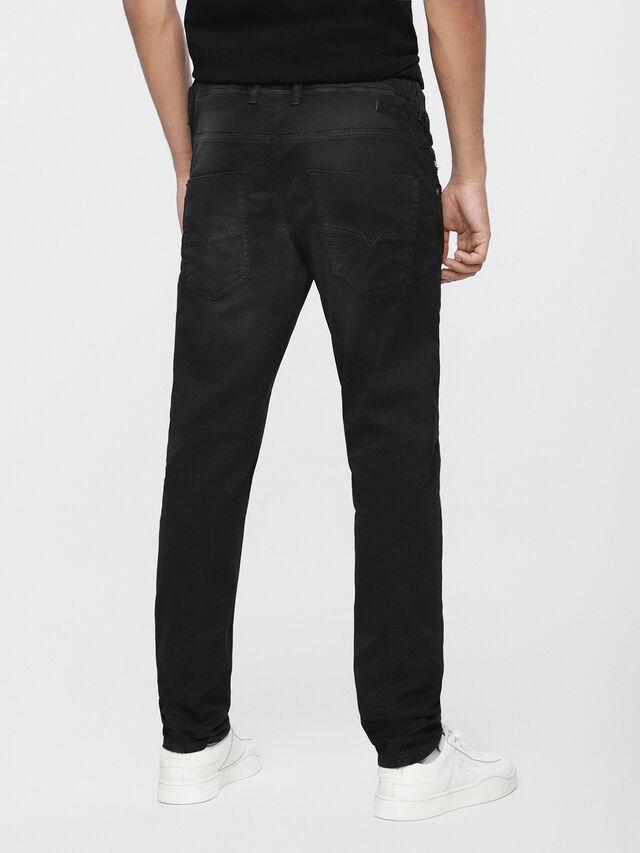 Diesel - Krooley JoggJeans 0670M, Jean Noir - Jeans - Image 2