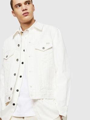 D-BRAY, Blanc - Vestes en denim