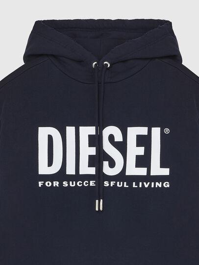 Diesel - S-GIR-HOOD-DIVISION-, Bleu Foncé - Pull Cotton - Image 3