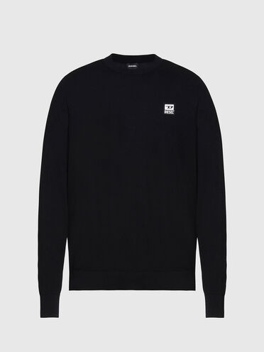 Pull en coton avec logo patchwork