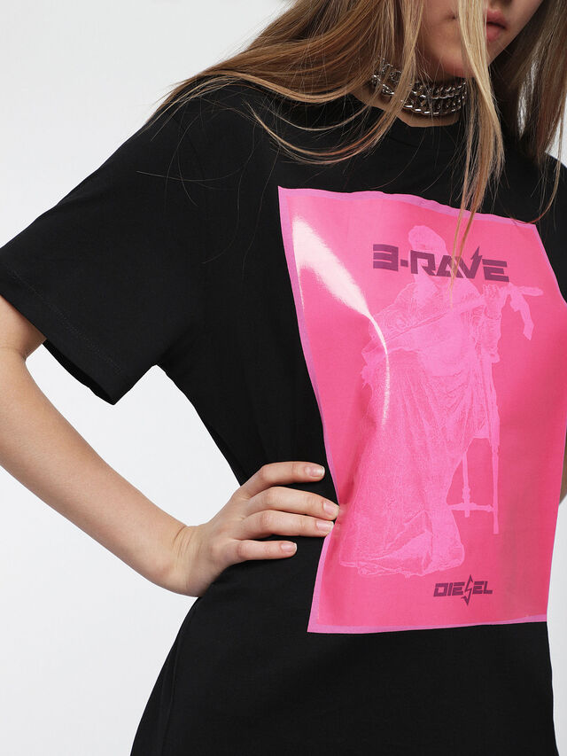 Diesel - T-DARIA-C, Noir/Rose - T-Shirts - Image 3