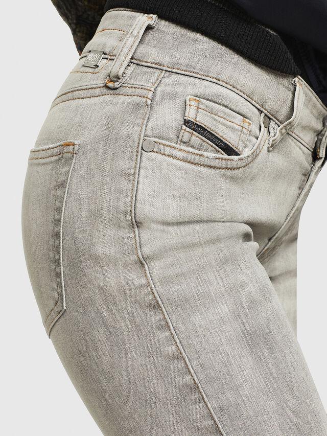 Diesel - Slandy Zip 086AE, Gris Clair - Jeans - Image 4