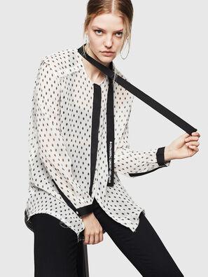 C-SAKURA-B, Blanc/Noir - Chemises