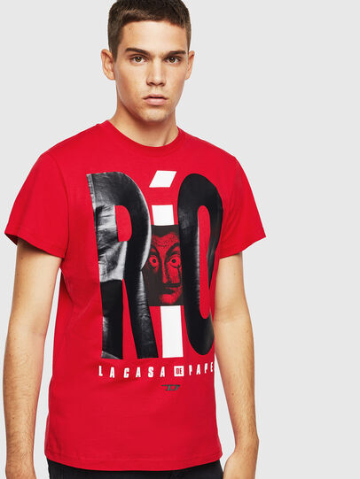 Diesel - LCP-T-DIEGO-RIO, Rouge - T-Shirts - Image 1