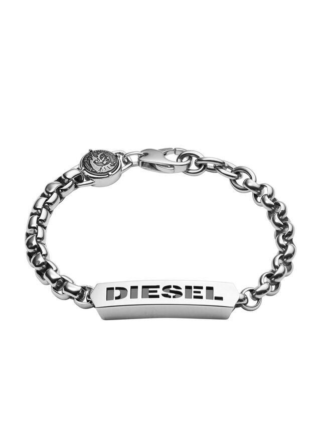 Diesel - BRACELET DX0993, Gris argenté - Bracelets - Image 1