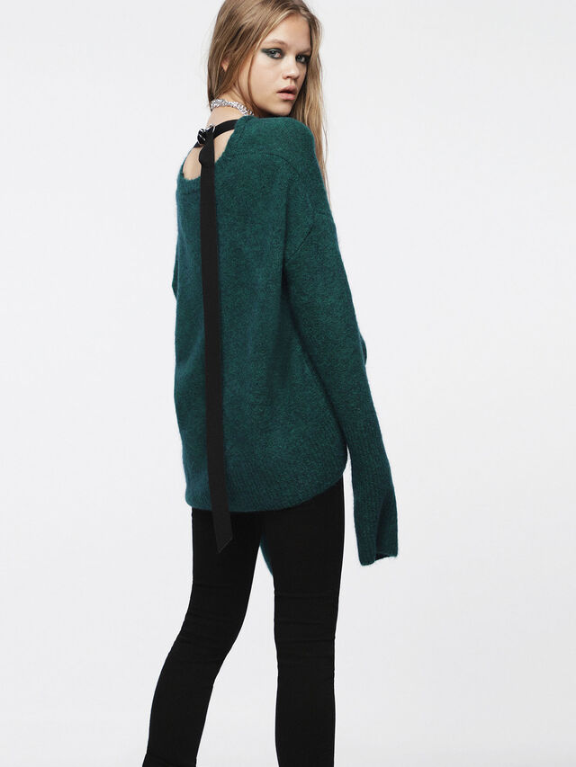 Diesel - M-ALPY, Vert Bouteille - Pull Maille - Image 2