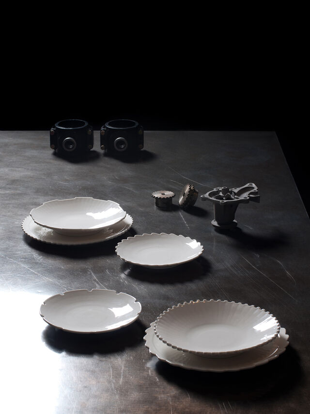 Diesel - 10986 MACHINE COLLEC, Blanc - Assiettes - Image 3