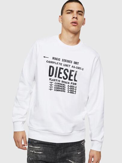 Diesel - S-GIR-B5, Blanc - Pull Cotton - Image 1