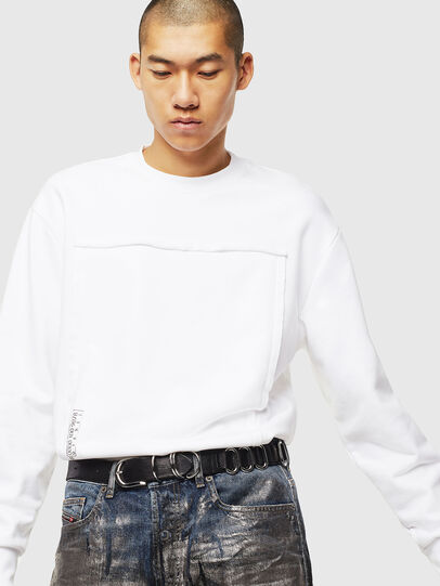 Diesel - S-BAY-RAW, Blanc - Pull Cotton - Image 4