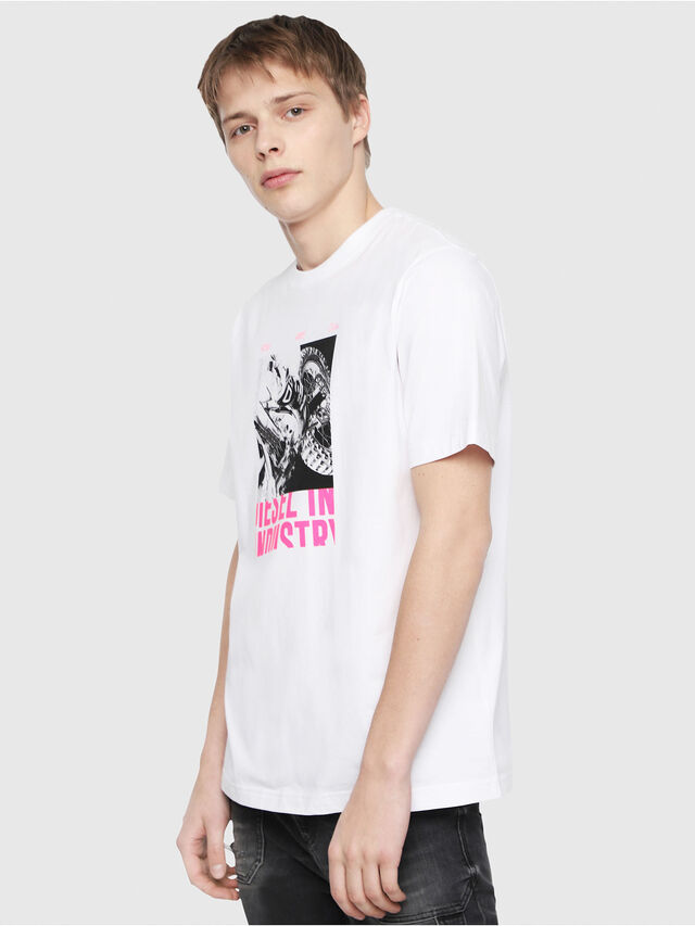 Diesel - T-JUST-Y3, Blanc - T-Shirts - Image 1