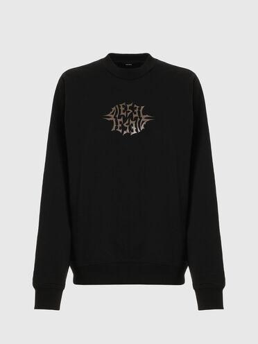 Sweatshirt avec logo imprimé métallisé