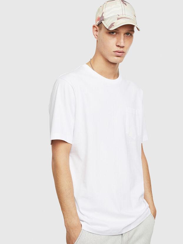 T-JUST-POCKET-T17, Blanc - T-Shirts