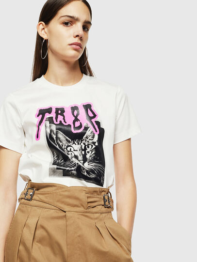 Diesel - T-SILY-YC, Blanc - T-Shirts - Image 4
