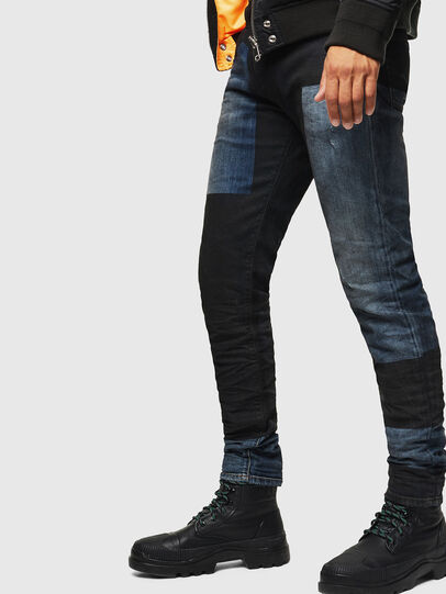 Diesel - D-Strukt 0094K, Bleu Foncé - Jeans - Image 4