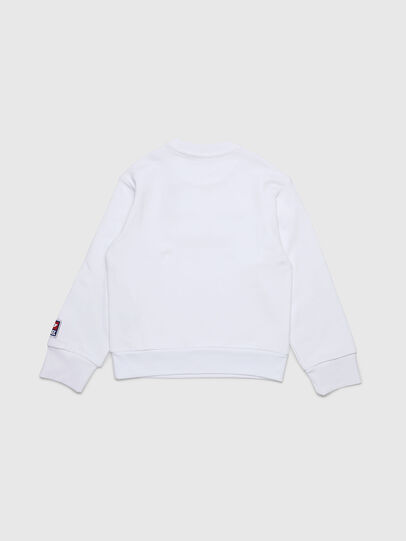 Diesel - SCREWDIVISION-D OVER, Blanc - Pull Cotton - Image 2