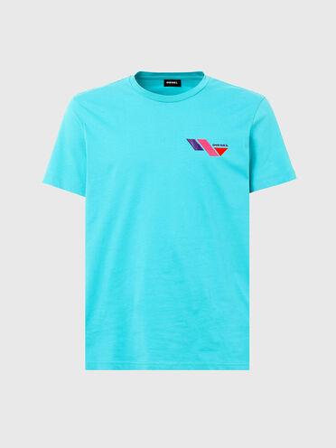 T-shirt avec logo imprimé color-block
