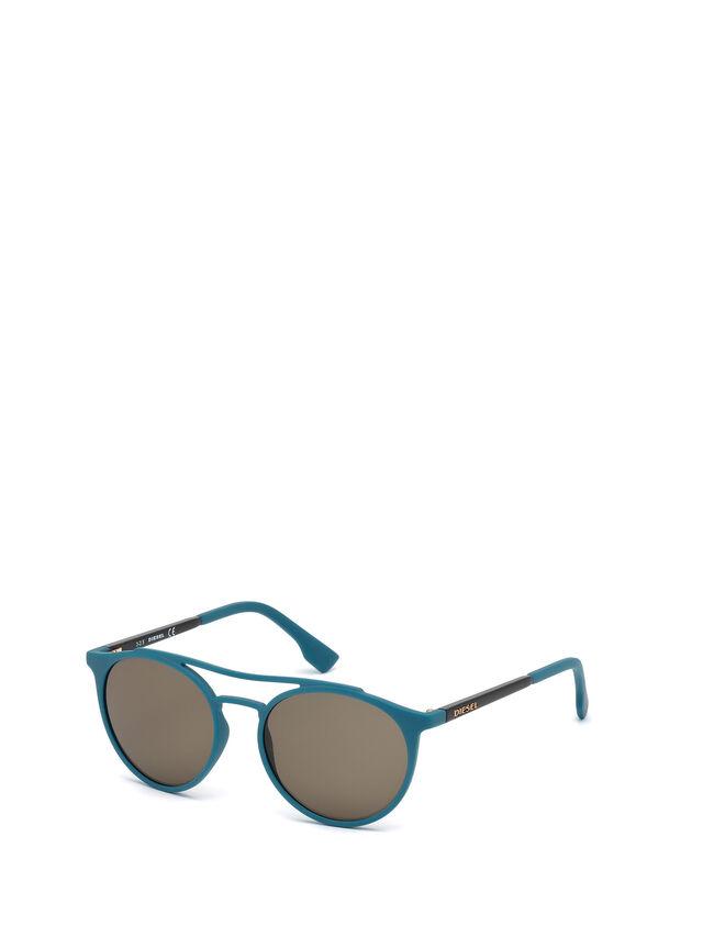 Diesel - DM0195, Bleu - Lunettes de soleil - Image 4