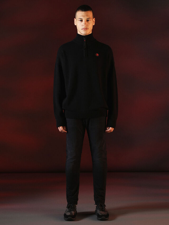 Diesel - DVL-KNIT-SPECIAL COLLECTION, Noir - Pull Maille - Image 4