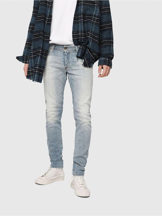 Diesel - Sleenker 081AJ, Bleu Clair - Jeans - Image 1