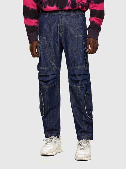 Diesel - D-KARGO, Bleu moyen - Pantalons - Image 1