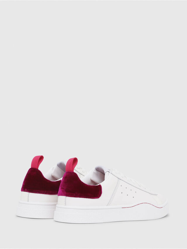 Diesel - S-CLEVER LOW W, Blanc/Rouge - Baskets - Image 3